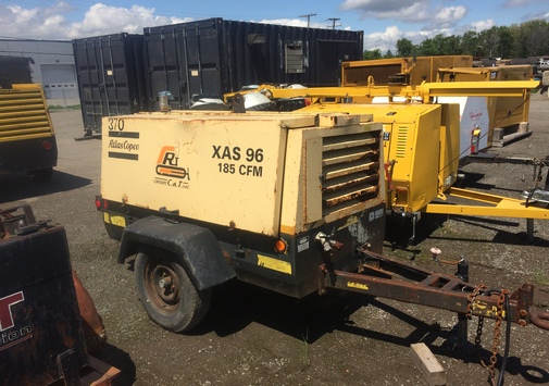 COMPRESSOR WITH WHEELS - ATLAS COPCO XAS 96 JD